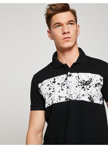 Koton Polo Yaka Tişört Siyah